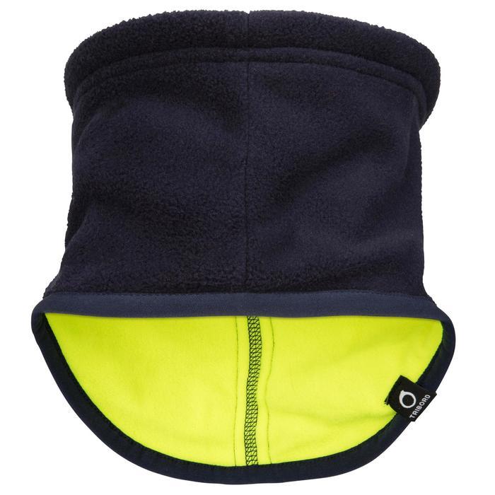 Fleece nekwarmer voor zeilen marineblauw / geel