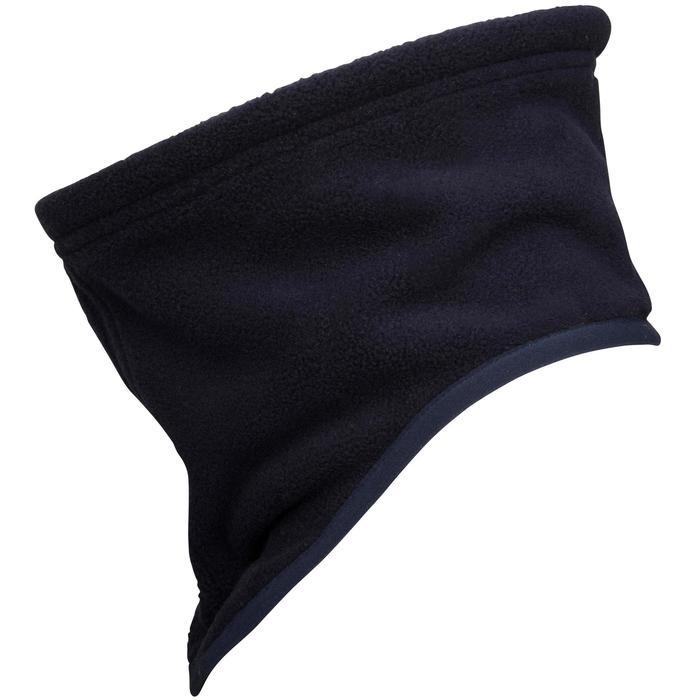 Braga de cuello náutica de fibra polar azul marino / amarillo
