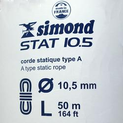 Corde Semi-Statique 10,5 mm x 50 m - STAT 10,5 Blanche