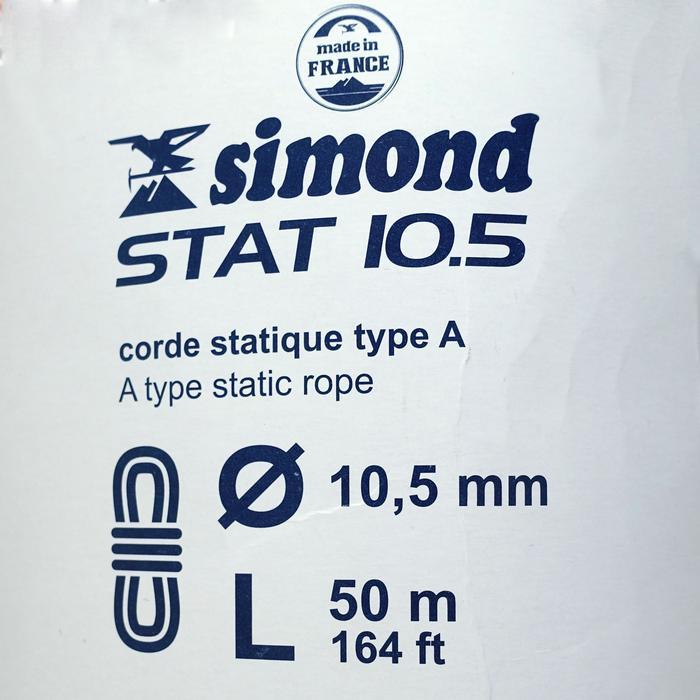 Cuerda semiestática STAT de 10,5 mm x 50 m