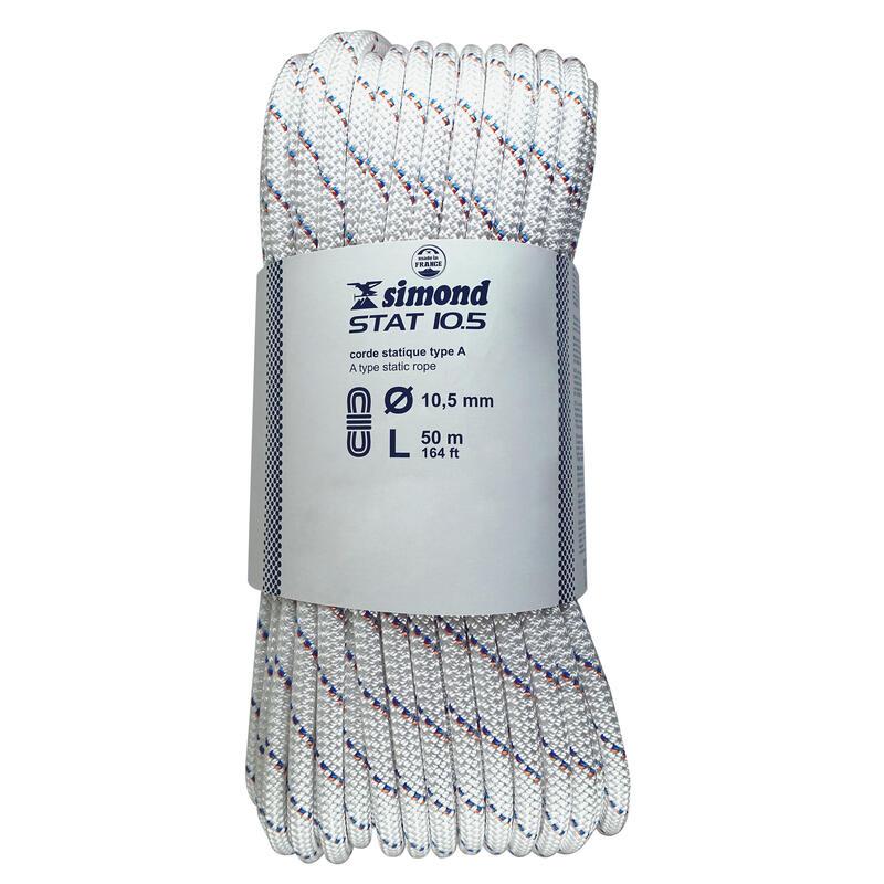 Corde Semi-Statique 10,5 mm x 50 m - STAT 10,5 Blanche