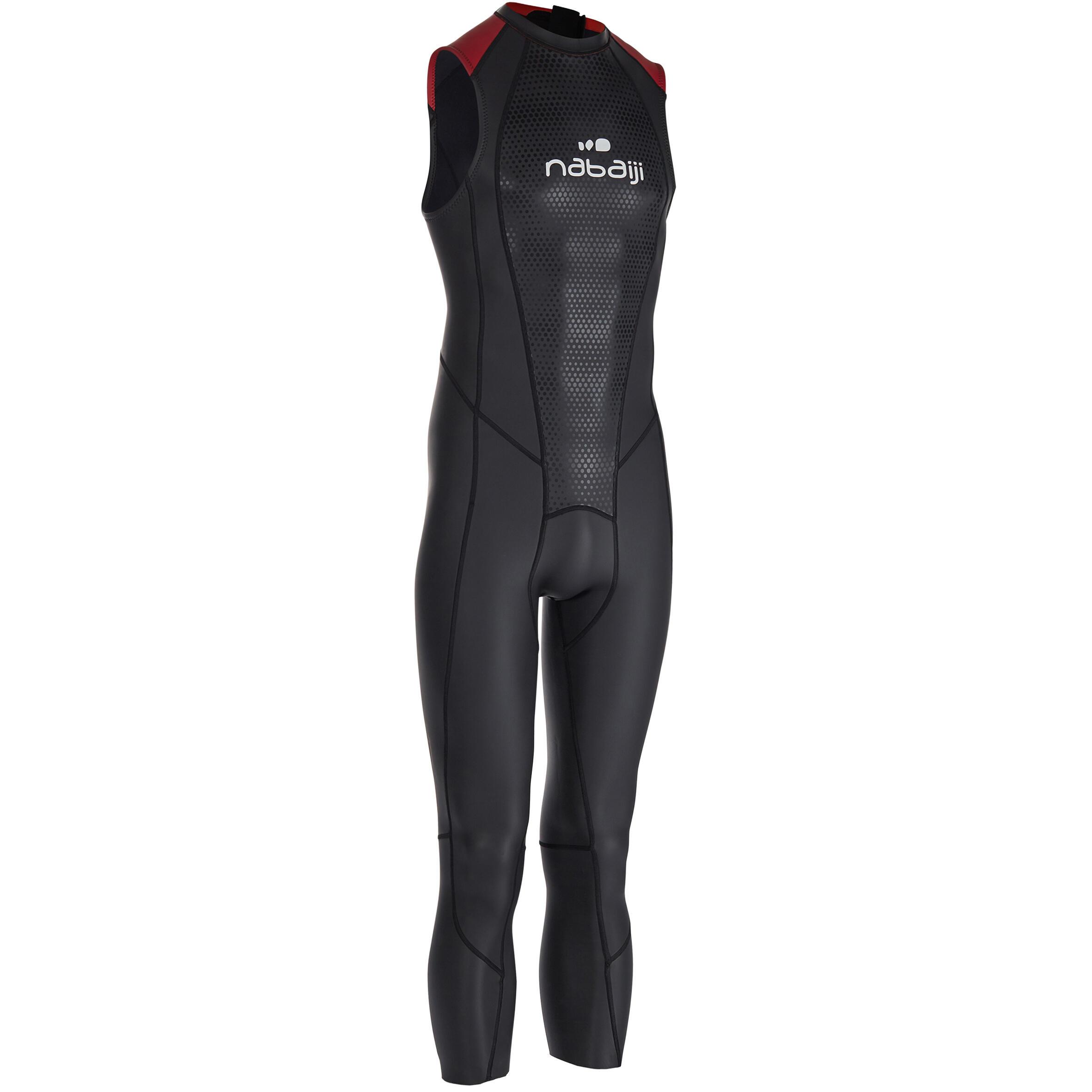 Schwimmanzug Freiwasserschwimmen ärmellos OWS 500 Neopren 2/2mm Herren | Bekleidung > Bademode > Badehosen | Nabaiji