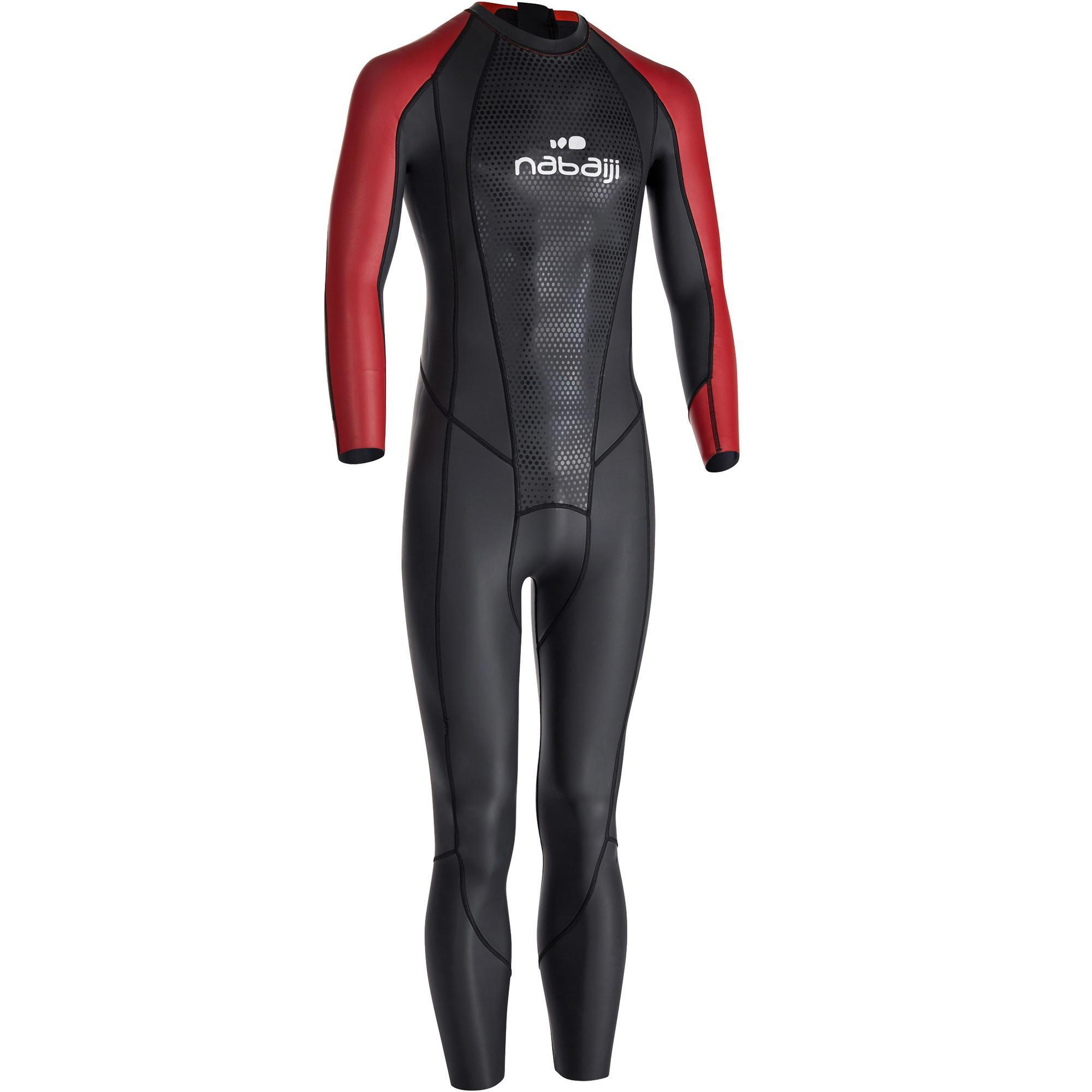Schwimmanzug Neopren OWS 500 2,5/2mm Herren | Bekleidung > Bademode > Badehosen | Schwarz - Rot | Nabaiji