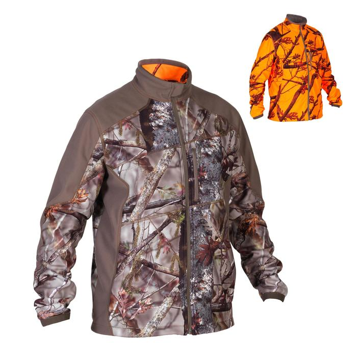 Veste chasse 900 camouflage fluo - 1209197
