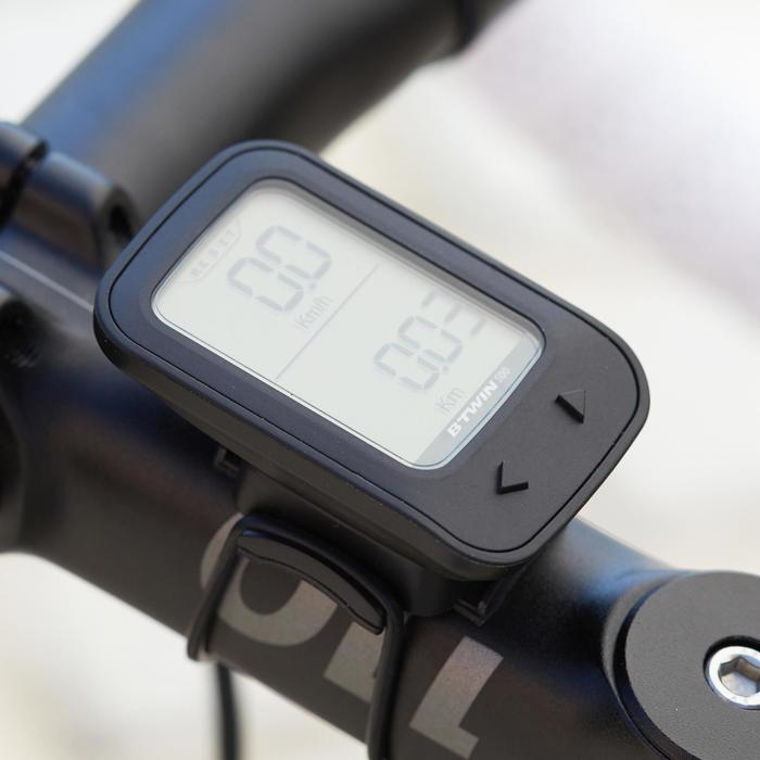 Draadloze fietscomputer B'TWIN 500 zwart