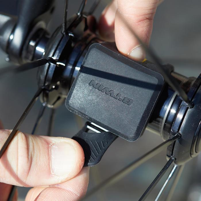 Fahrradcomputer B'TWIN 500 kabellos blau
