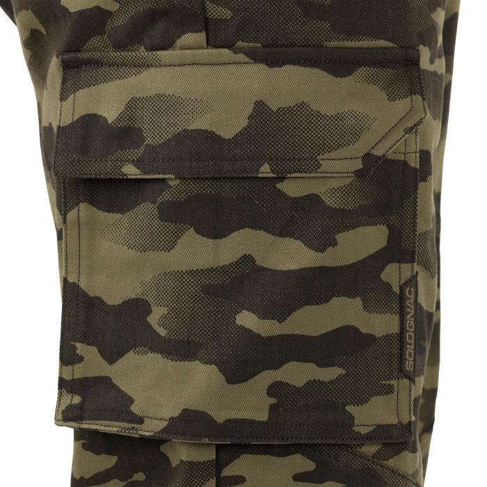 Jagdhose 520 atmungsaktiv strapazierfähig camouflage/grün