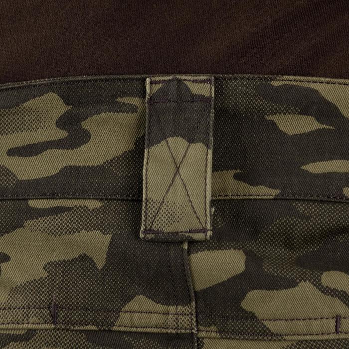Pantalon chasse résistant et confortable 520 camouflage vert