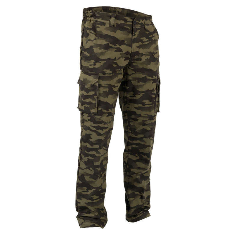 TROUSERS/SHIRTS Shooting and Hunting - Trousers 520 camo khaki SOLOGNAC - Hunting and Shooting Clothing