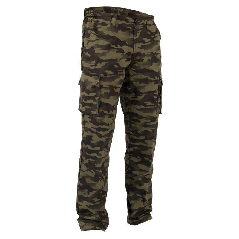 PANTALONI E CAMICIE CACCIA Caccia - Pantaloni 520 verde mimetico SOLOGNAC - Abbigliamento caccia