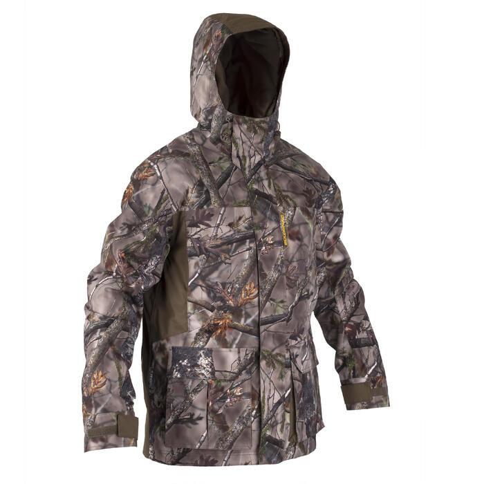Warme regenparka voor de jacht 500 Actikam camouflage - 1209478