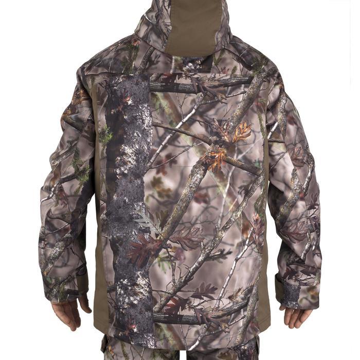 Warme regenparka voor de jacht 500 Actikam camouflage - 1209479