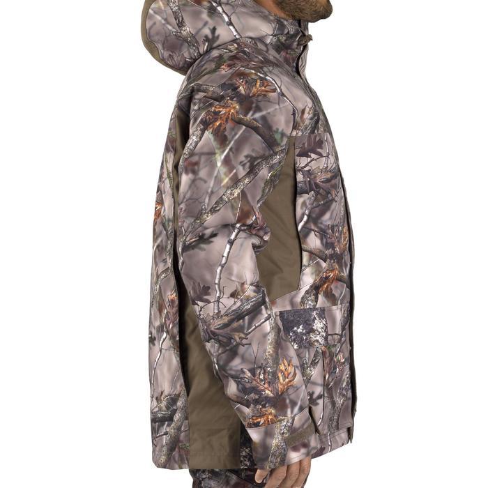 Warme regenparka voor de jacht 500 Actikam camouflage - 1209480