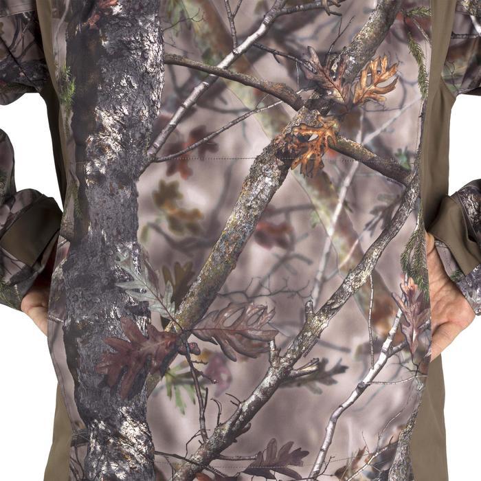 Warme regenparka voor de jacht 500 Actikam camouflage - 1209482