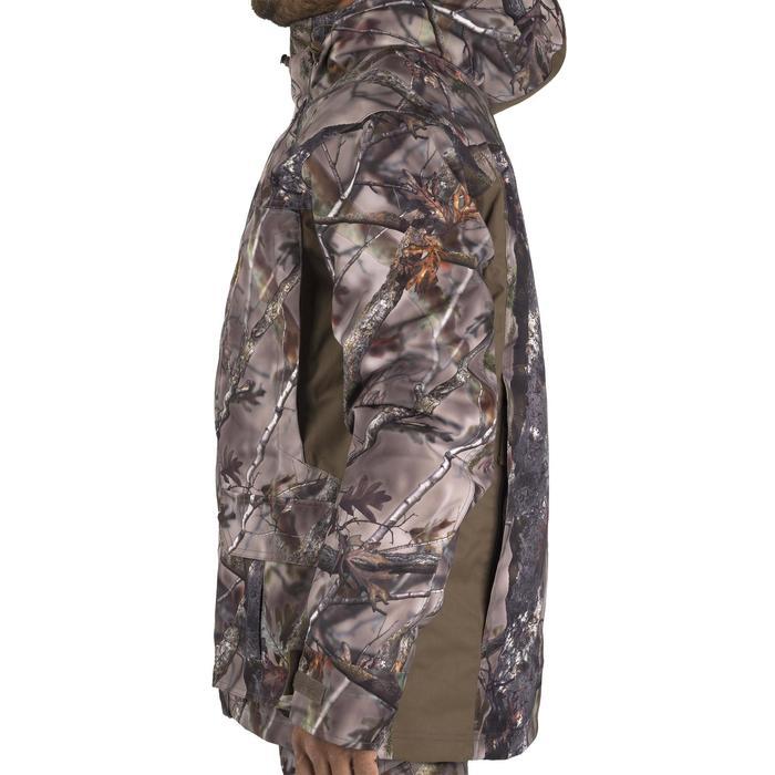 Warme regenparka voor de jacht 500 Actikam camouflage - 1209483