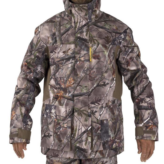 Warme regenparka voor de jacht 500 Actikam camouflage - 1209484