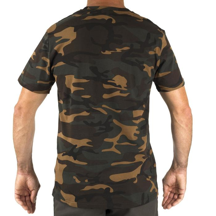 T-shirt manches courtes chasse 100 camouflage woodland vert