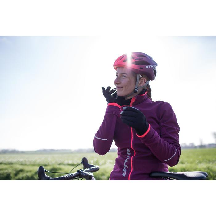 Fahrrad-Handschuhe Herbst 500 violett