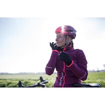 Winter-Fahrradhandschuhe 500 violett