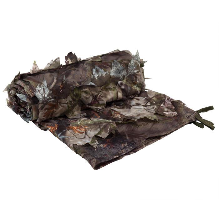 Tarnnetz 3D 1,4 × 3,8 m Camouflage braun
