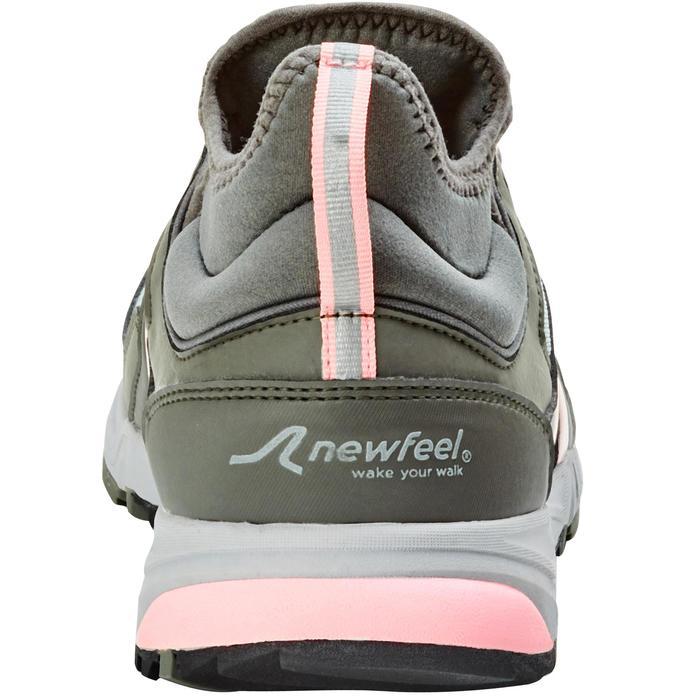 Schoenen nordic walking NW 500 dames roze/kaki