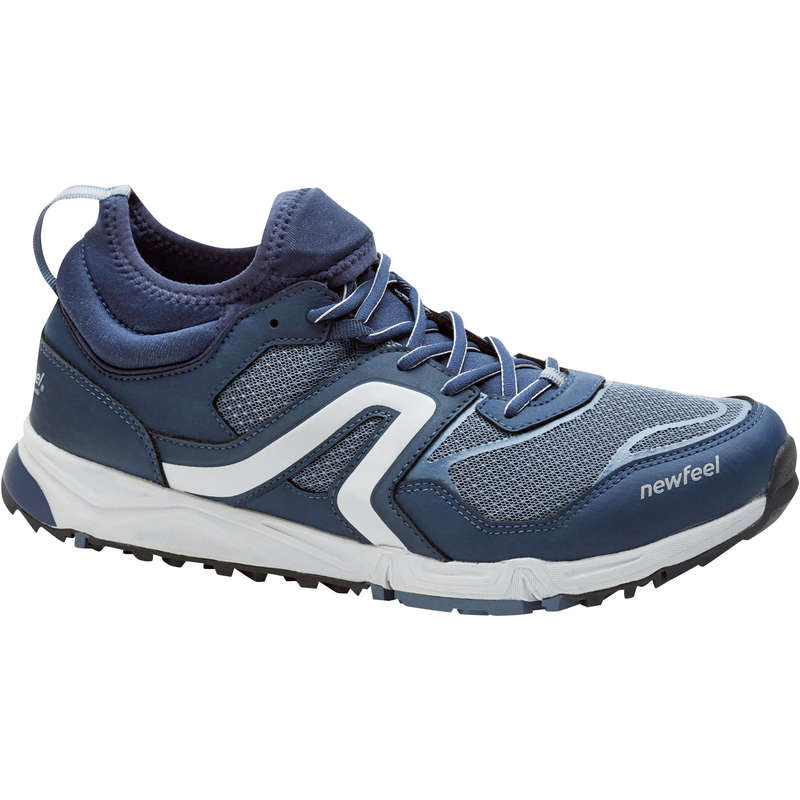 NORDIC WALKING SHOES Hiking - NW 500 Flex-H navy blue/grey NEWFEEL - Outdoor Shoes