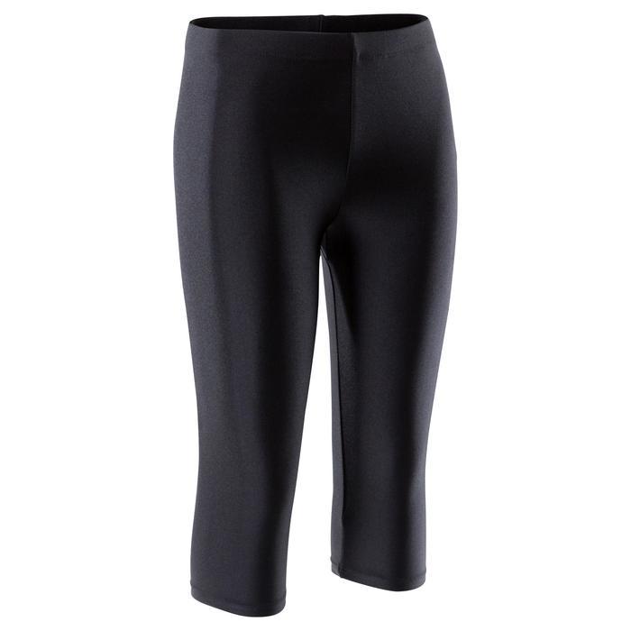 Gym kuitbroek 100 voor meisjes (toestelturnen en ritmische gymnastiek) zwart