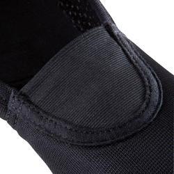 Chausson de gymnastique artistique en filet 500 noir.