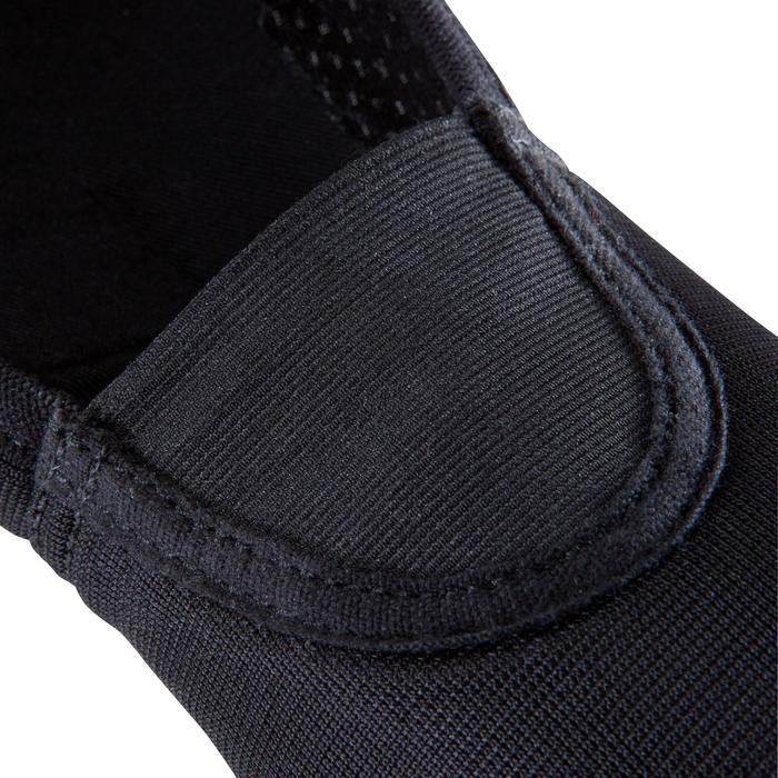 Gymschoenen toestelturnen in mesh 500 zwart.