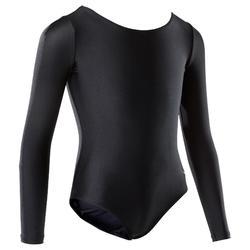 Gymnastikanzug Turnanzug Body Langarm Kinder (KT und RSG) schwarz