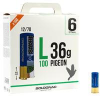 L100 36g PIGEON CARTRIDGE CALIBRE 12/70 SHOT N°6 X25