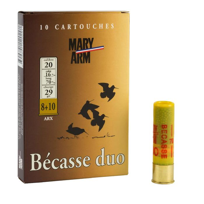CARTOUCHE BECASSE DUO 29g CALIBRE 20/70 PLOMB N°8/10 x10