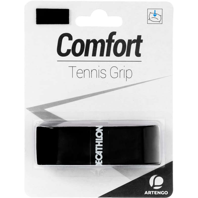 RACKETS ACCESSORIES Tennis - Tennis Comfort Grip - Black ARTENGO - Tennis Accessories