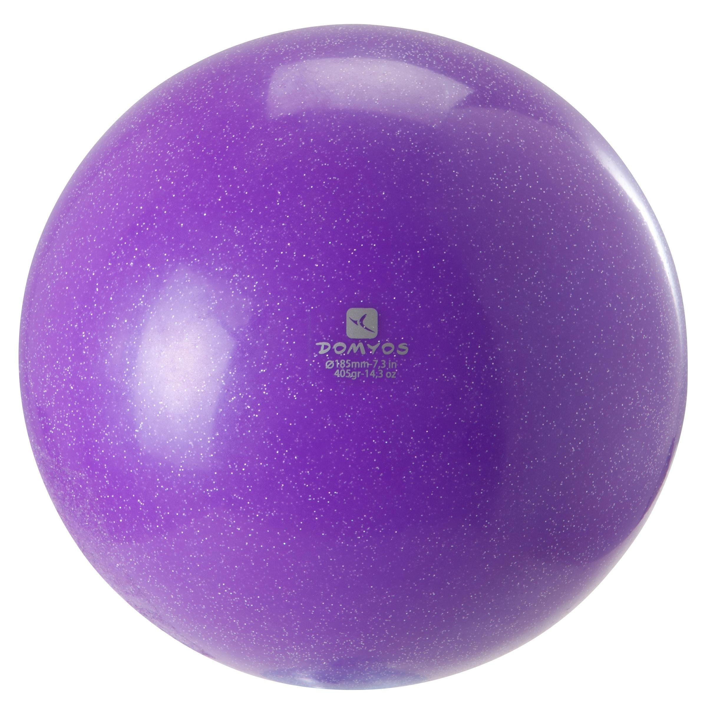 Domyos Bal voor ritmische gymnastiek (RG) 185 mm paarse lovertjes