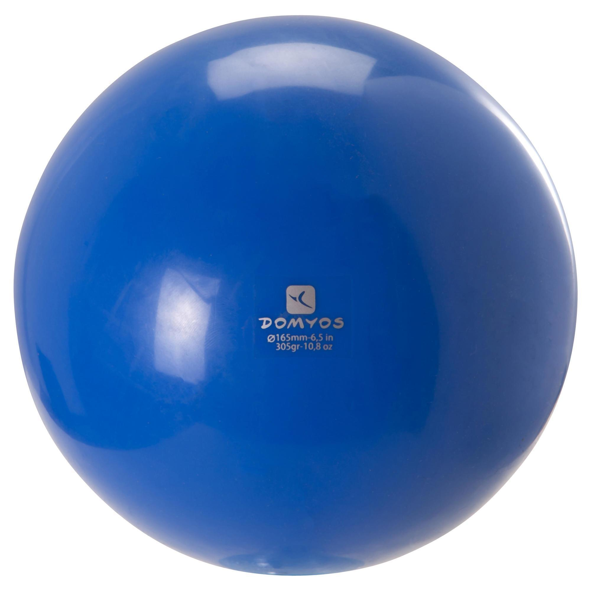 ballon de gymnastique rythmique 165 mm bleu domyos by decathlon. Black Bedroom Furniture Sets. Home Design Ideas