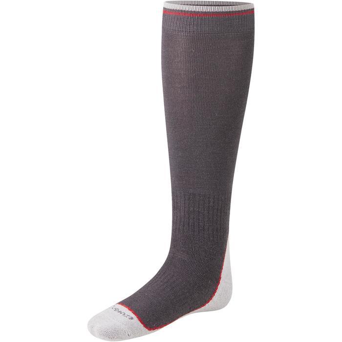 Chaussettes chaudes équitation adulte motif HR gris foncé - 1210318