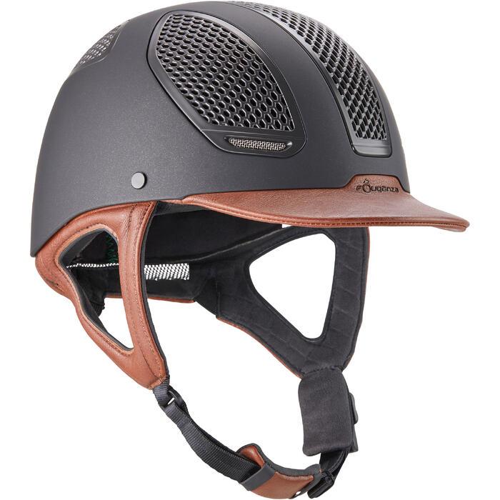Casco equitación C900 SPORT negro / marrón