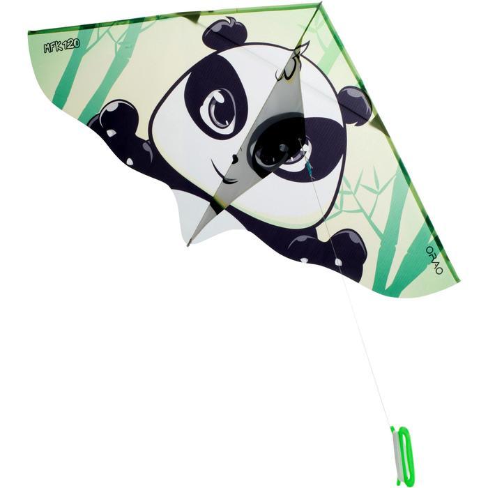 Cometas Monohilo Playa Orao Para Niños MFK 120 Blanco/Verde/Negro Panda
