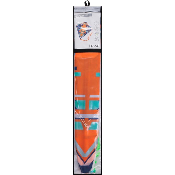 Lenkdrachen 2-in-1 (lenkbar und statisch) Izypilot 100 neon-orange