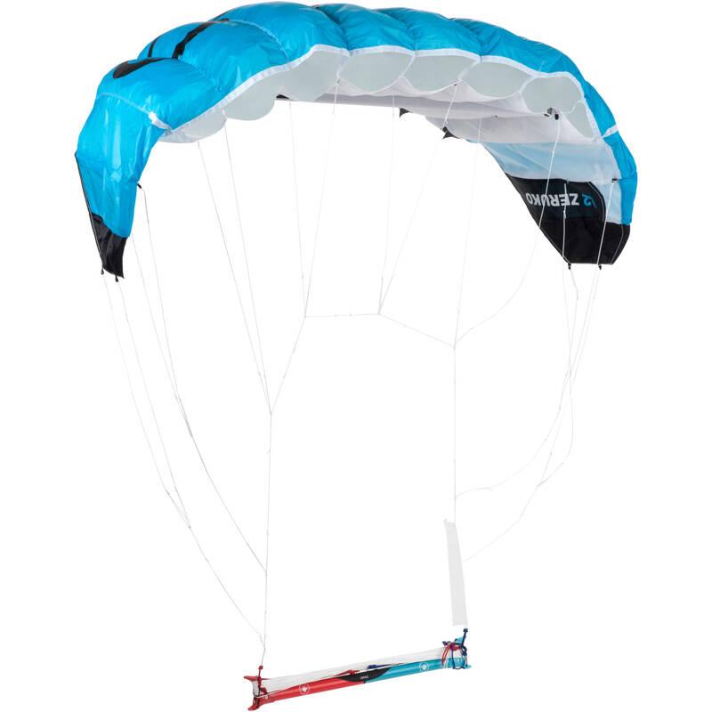 TAŽNÍ DRACI / LANDKITE Létající draci, kitesurfing, landkiting - TAŽNÝ DRAK 1,2 M² MODRÝ ORAO - Landkiting
