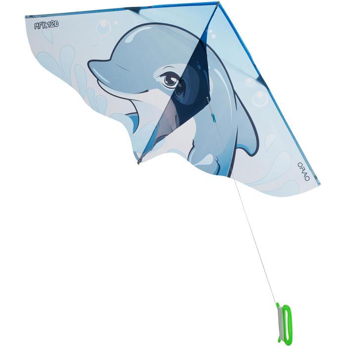 Cometas acrobáticas Playa Orao Para Niños MFK 120 Azul/Gris/Blanco Delfín
