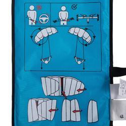Kiteschirm 1,2m² mit Lenkstange blau