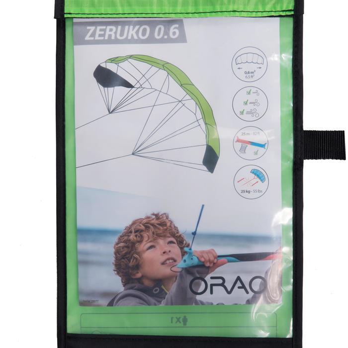 Kiteschirm 0,6m² mit Lenkstange neongrün