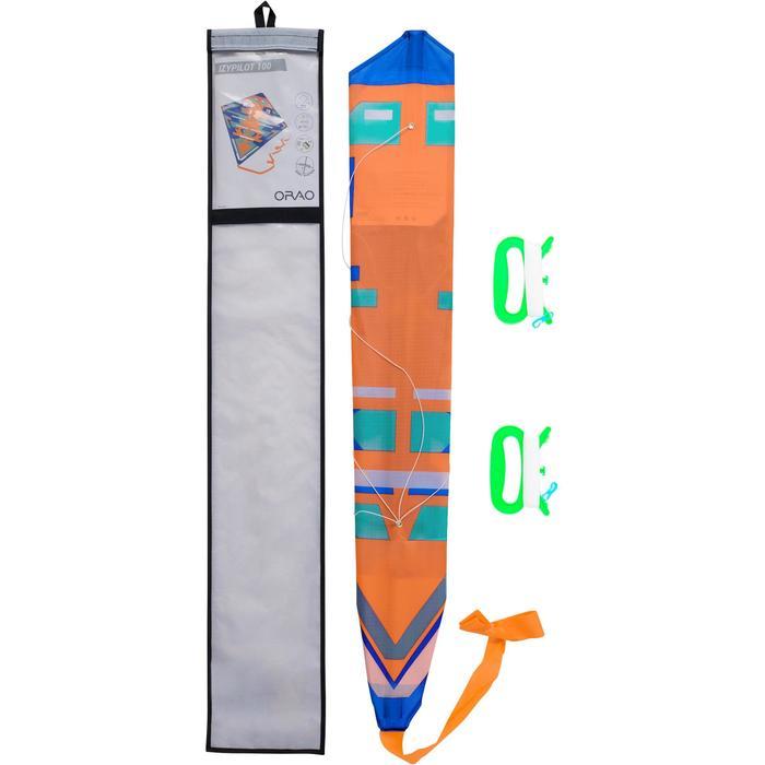 Lenkdrachen 2-in-1 lenkbar und statisch Izypilot 100 neonorange