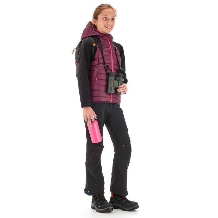Gilet doudoune de randonnée Hike 500 fille prune