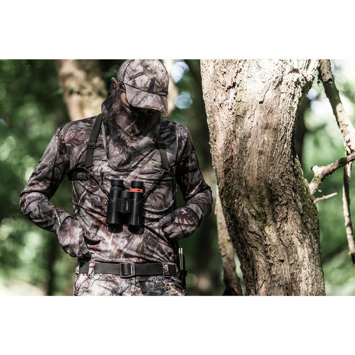 T-SHIRT RESPIRANT ACTIKAM 100 MANCHES LONGUES CAMOUFLAGE MARRON - 1210840