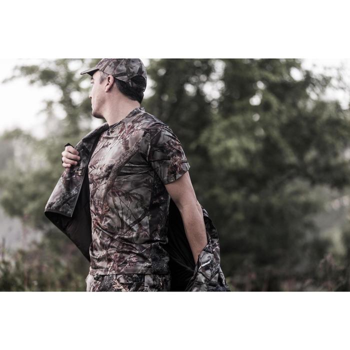 Ademend T-shirt met korte mouwen voor de jacht Actikam 100 camouflage bruin