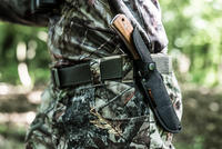Sika 130 Wood Fixed-Blade Knife Brown