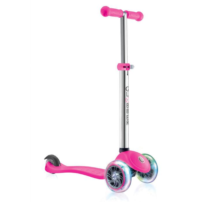 Scooter Primo Lights Kinder rosa