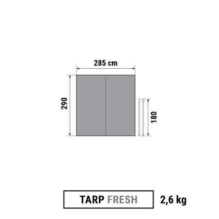 Multifunction Tarp shelter Fresh White 9sqm
